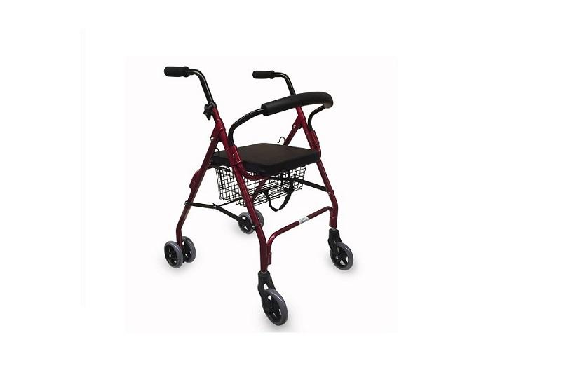 Andador para ancianos aluminio 4 ruedas Sucesores Garcia