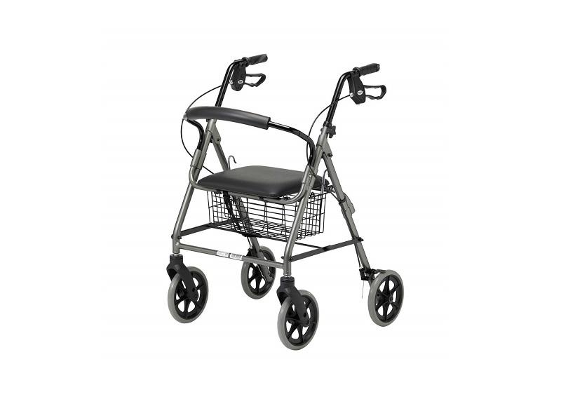 Patterson Medical - Andador con frenos y 4 ruedas